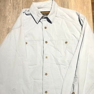 Woolrich blue button down long sleeve shirt size L
